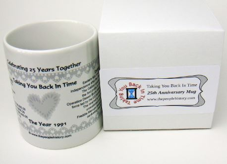 Celebrating 25 Years Together 1991 Coffee Mug