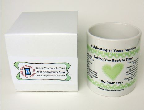 Celebrating 35 Years Together 1981 Coffee Mug