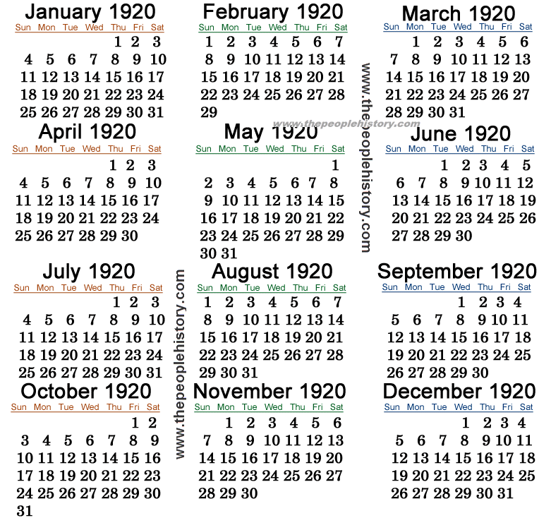 http://www.thepeoplehistory.com/calendars/1920-calendar.png