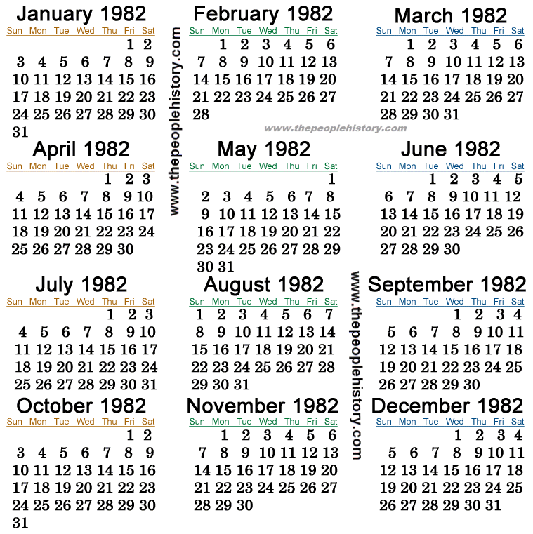1983 Calendar India.What Happened In 1982 Inc Pop Culture Prices Significant Events