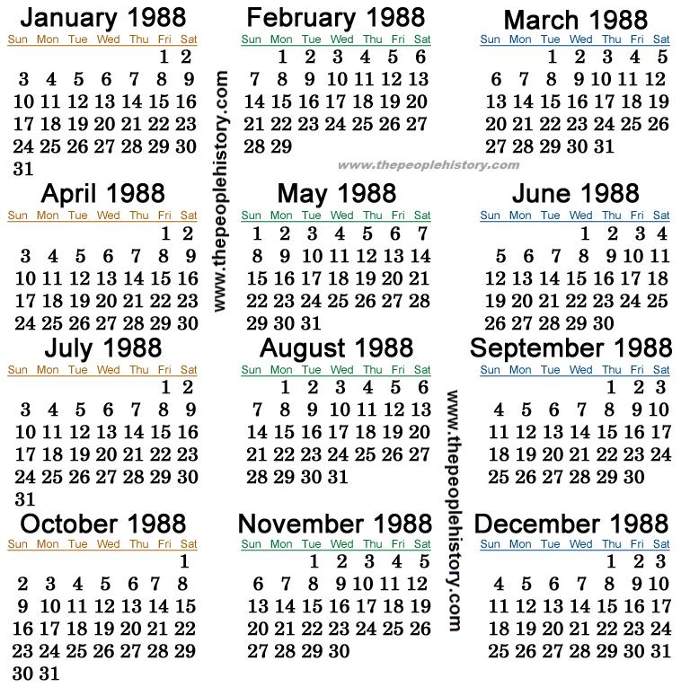 Calendar For June 1987 | Calendar Template 2016