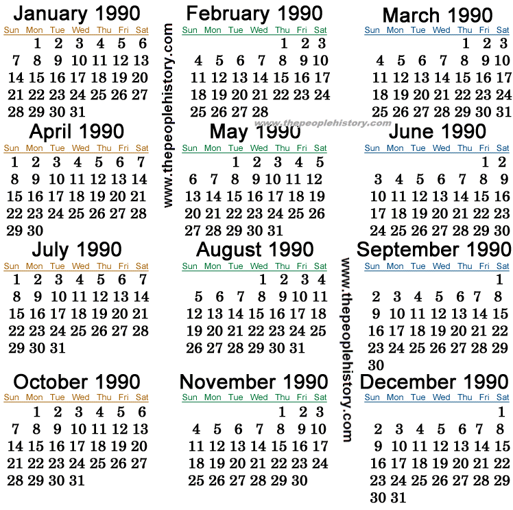 ������� ����� �� ��������� ����� 1990