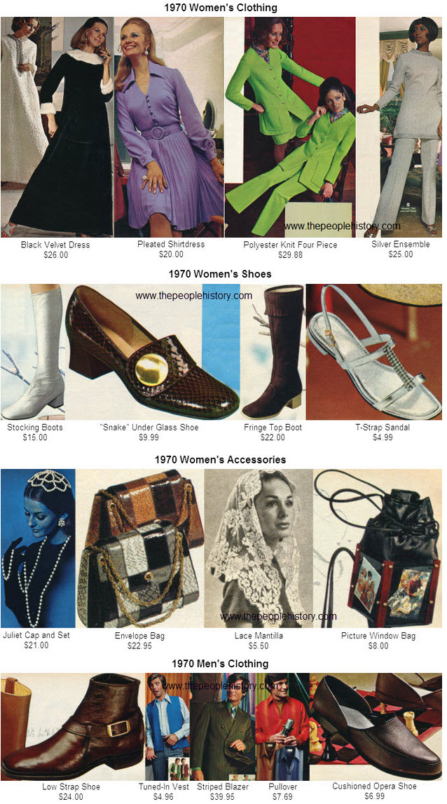 Fashions Clothes From The Year 1970