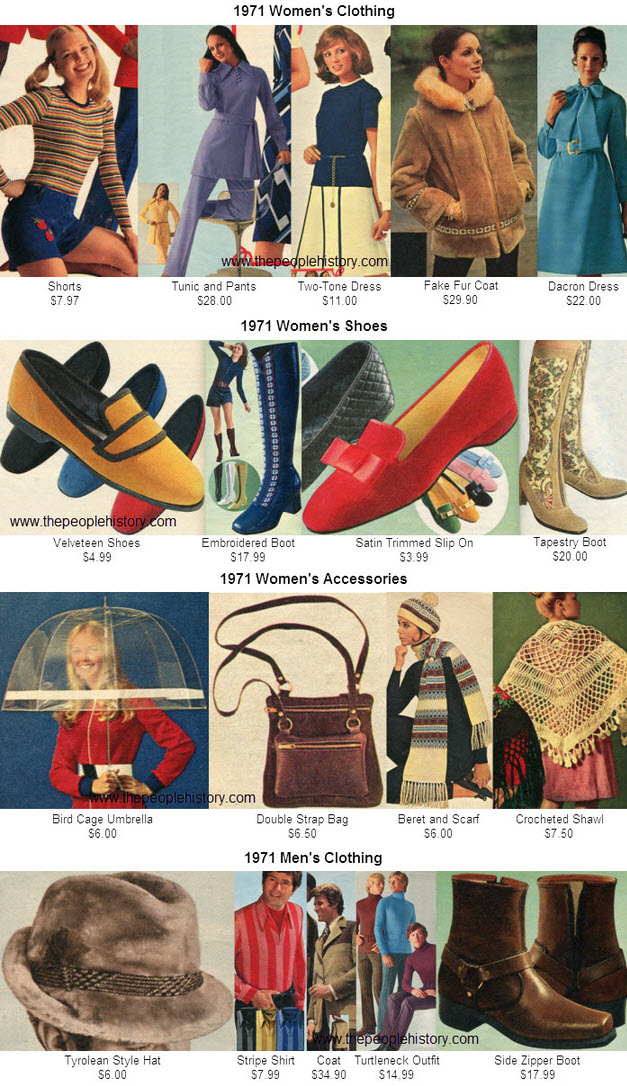 Fashion Clothing Examples From 1971