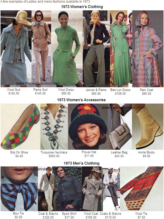 Fashion Clothing From 1973