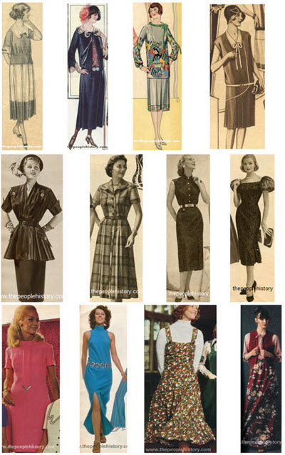Clothing Designers Names 1920s To 1980s Ladies Dresses and Skirts