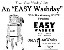 August 26th 1937 washer