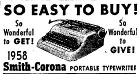 September 24th 1958 Portable Typewriter