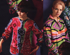Multi color mid 60s Ladies Blouses