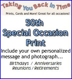 1963 50th Personalized Special Occasion Taking You Back In Time Print