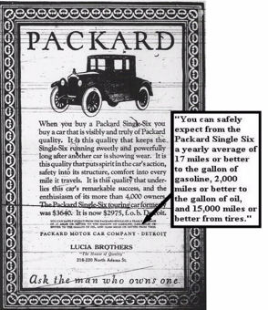 Packard 1920s Prices