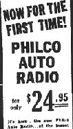Philco car radio only $29.95