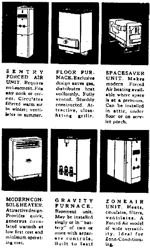Examples of the type of heating furnace available in 1947