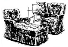 set of furniture from the 1940's