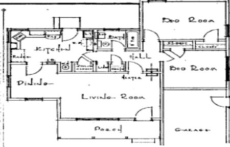 sample 40's home layout plan
