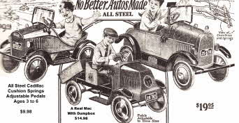 Steel Vintage Pedal Cars from the 20s