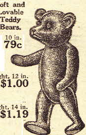 Early U.S. Vintage Teddy Bear from the early 20s