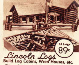 Lincoln Logs construction set from the 30s