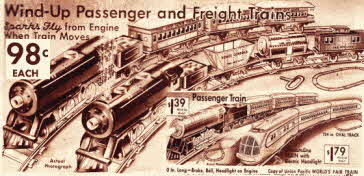 Wind up Trains from the Thirties
