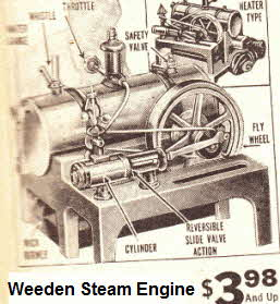 Thirties Weeden Steam Engine reversible horizontal type with electric or alcohol burning versions,