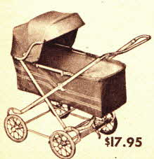 Baby Stroller style Carriage Basic Design from the 50's