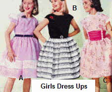 Girls Dress Up Clothes from the late 1950s