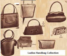 1957 ladies handbags from the late 1950's