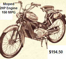 Moped 2 HP 150 MPG