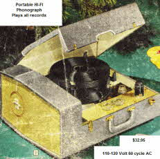 The latest in portable 1950s HI-FI Phonograph