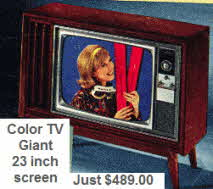 Giant 23 inch Color Television