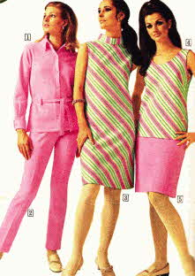 1960's Fashion Tops, Mini Dresses and Pants