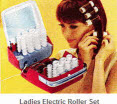 Ladies Electric Roller Set Including case and 16 rollers
