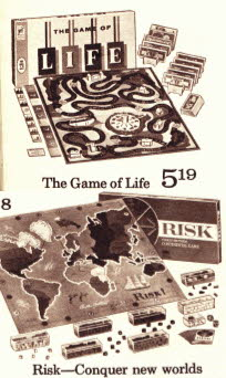 Board Games Inc Game of Life and Game of Risk from the 70's