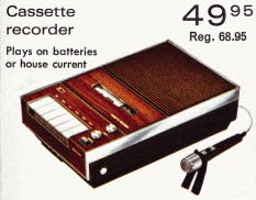 Portable Cassette Recorder From The 1970s