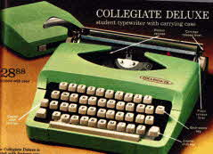 1970 Early 70s Back To College Portable Typewriter