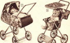 Dolls Stroller and Doll Carriage From The 1970s