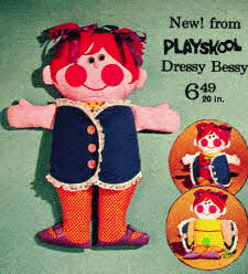Playschool 20 inch doll Dressy Bessy  From The 1970s