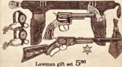 Lawman Set including Holster and Guns From The 1970s