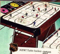 NHL Table Hockey depicting the top teams in 1971