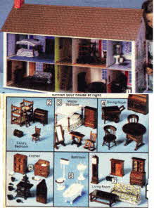 Dolls House and Furniture From The 1970s