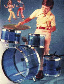 8 piece Drum Kit for boys From The 1970s