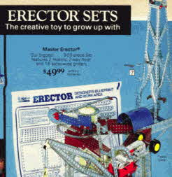 Master 900 piece Erector Set  From The 1970s