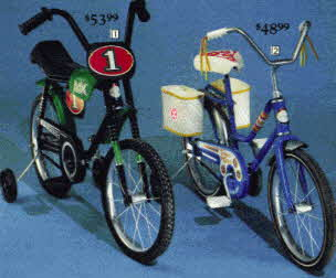 First Boys and Girls Bikes With Rear Training Wheels From The 1970s