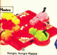 Hungry Hungry Hippos Game  From The 1970s