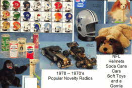 Selection of 1970s Novelty Radios