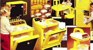 Childrens Play Kitchen Appliances From The 1970s