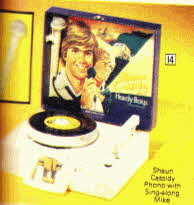 Shaun Cassidy Record Player with sing-a-long Microphone  From The 1970s