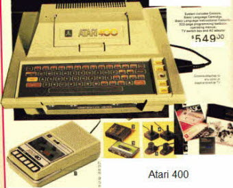 Vintage Atari 400 Home Computer System from the late 1970s