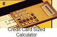 Credit Card Sized Calculator From The 1970s