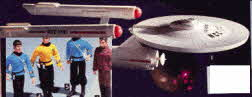 The Crew from Star Trek and the Star Ship Enterprise  From The 1970s